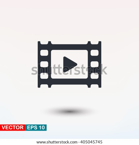 Video icon, vector