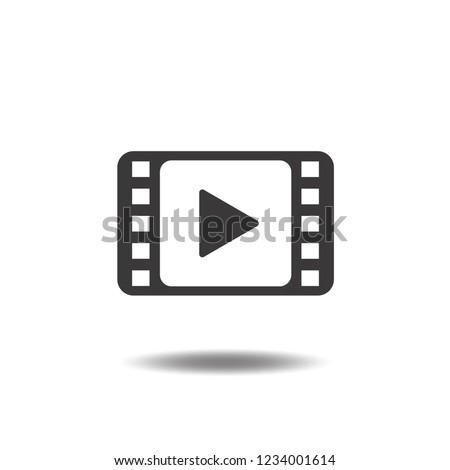 Video icon vector or film strip,play movie flat sign symbols logo illustration isolated on white background black color objects for web and mobile.Concept for theater.