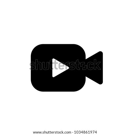 Video icon vector. Video camera vector. Player symbol. Linear style sign for mobile concept and web design. Video symbol logo illustration. vector graphics - Vector.