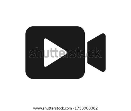 Video icon. Video camera vector. Player symbol. Video symbol logo.