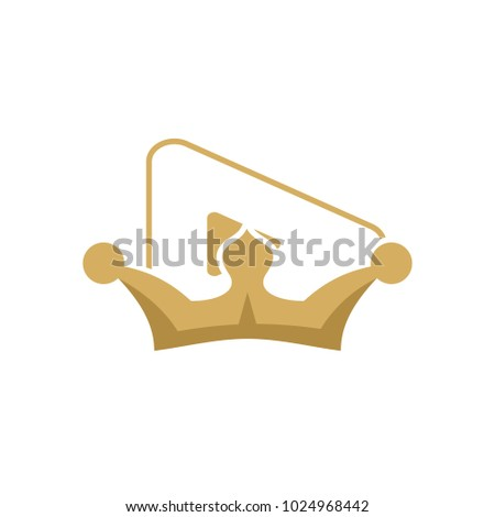 video king logo icon design