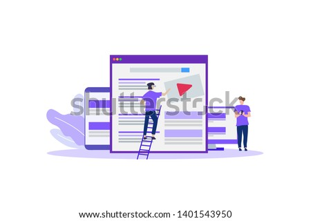 video marketing campaign, video ad, digital content vector illustration concept for web landing page template, banner, flyer and presentation