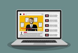 Video marketing concept. Digital design.
