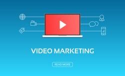 Video Marketing Laptop & Icons