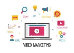 Video Marketing vector Illustration background