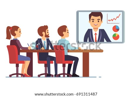 video meeting in office