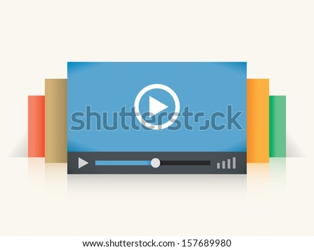 video player colorful windows