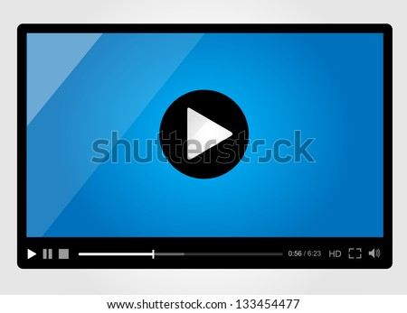 Video player for web minimalistic design