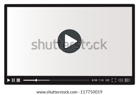 Video player for web vector illustration