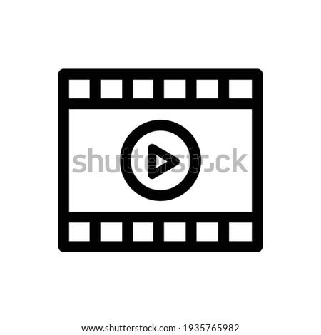 Video Player Icon. Media player icon. Cinema icon. Vector Illustration. Video, Cinema, Film Line Icon