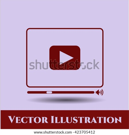 Video Player icon or symbol