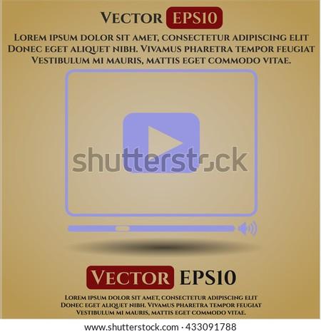 video player icon vector symbol flat eps jpg app web