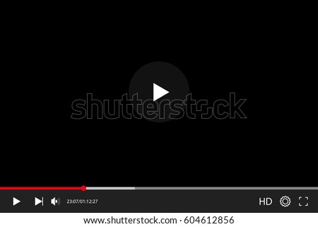Video player in flat style interface. Video and audio player. Vector illustration EPS10