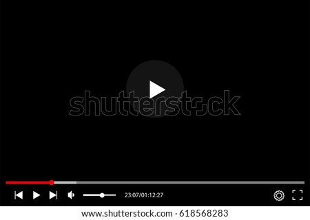 video player in flat style