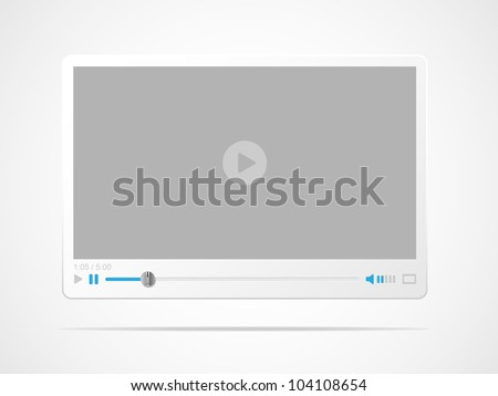 Video player interface Vector illustration.