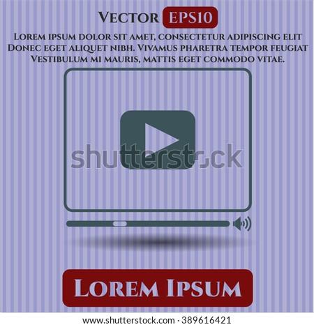 Video Player symbol