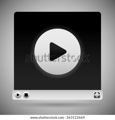 video player template white