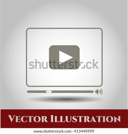 Video Player vector symbol