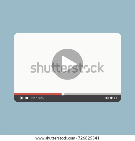 video player youtube web page  vector illustration