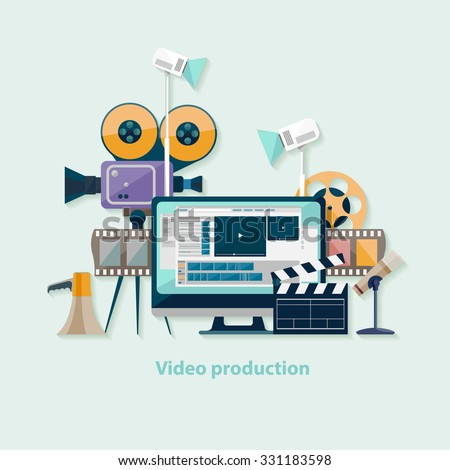 video production flat design