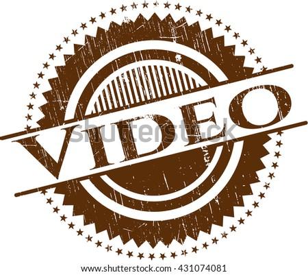 Video rubber grunge stamp