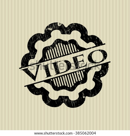 Video rubber stamp with grunge texture