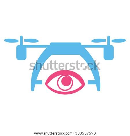 video spy drone vector icon
