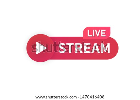 Video stream live icon. Online streaming banner vector design.