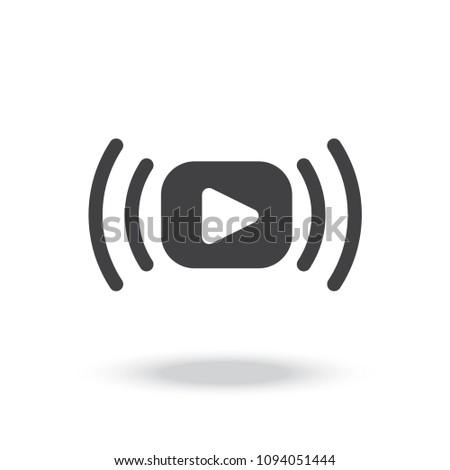 Video stream vector icon
