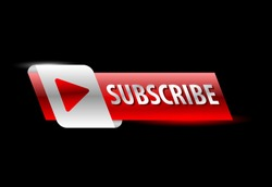 video subscribe promotion banner. vector illustration