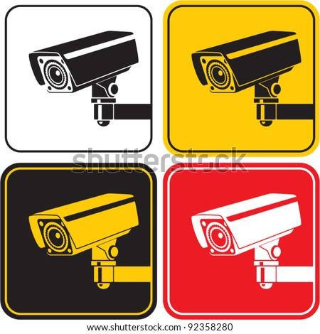 Videocamera Überwachungs-Schild. CCTV