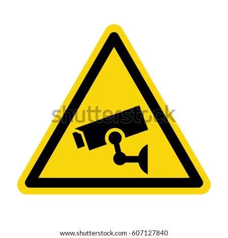 Video surveillance sign, CCTV Camera, vector, illustration