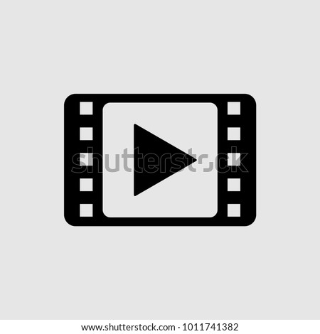 video vector icon, film strip icon