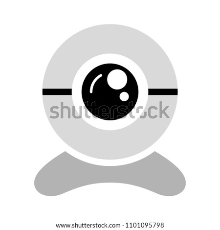 video web cam - chat camera icon, vector webcam isolated