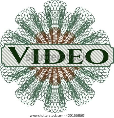 Video written inside rosette