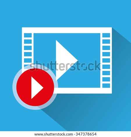 videos and movies graphic design, vector illustration eps10