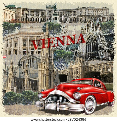 Vienna vintage poster.