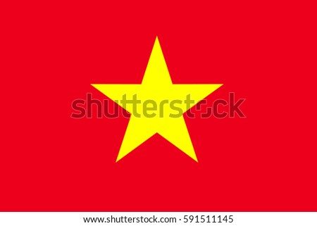 Vietnam Flag, official colors and proportion correctly. National Vietnam Flag. National Vietnam Flag vector illustration. National Vietnam Flag vector background. Vietnamese banner. Vietnamese banner.