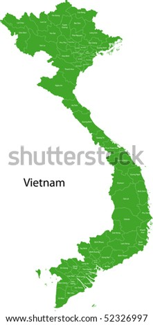 Vietnam map with provinces and capital cities
