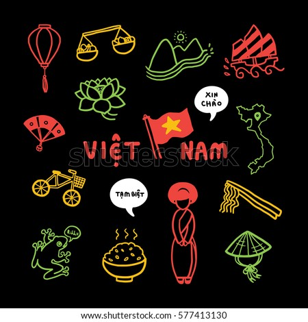 vietnam travel icon vector