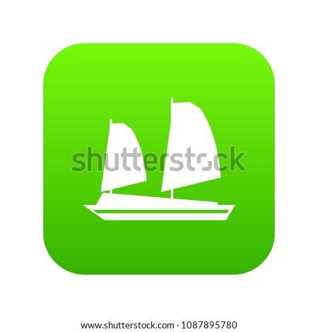 vietnamese junk boat icon