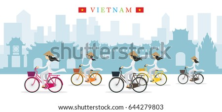 vietnamese women with conical