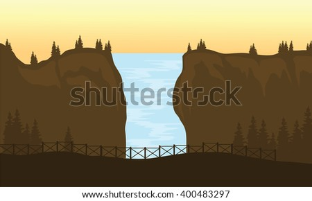 view of big waterfall at the