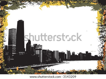 View of chicago and lake michigan