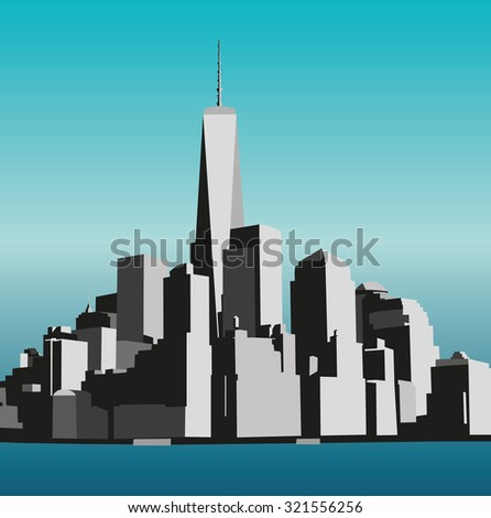 view of manhattan from the