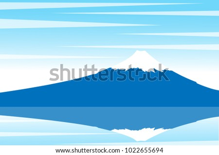 view of mount fuji with snow on