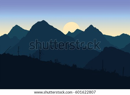 view of mountain landscapes