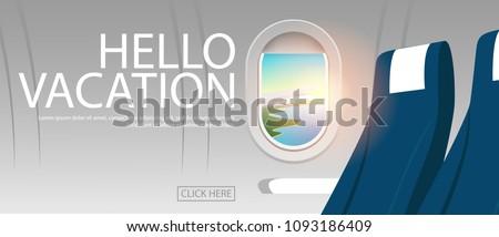 view of plane's cabin windows