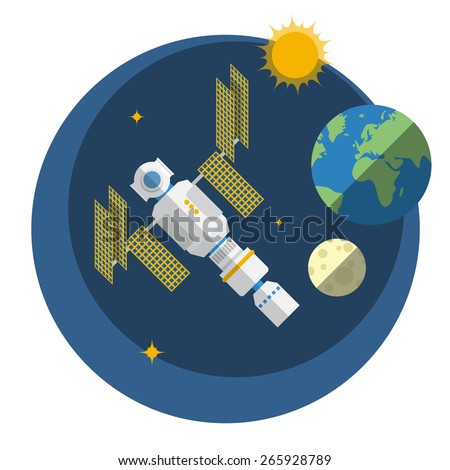 view of space station  sun