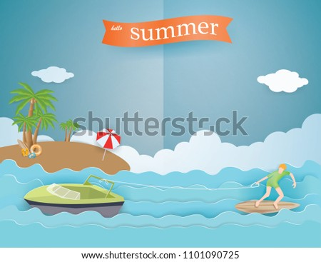 view of summer time holiday
